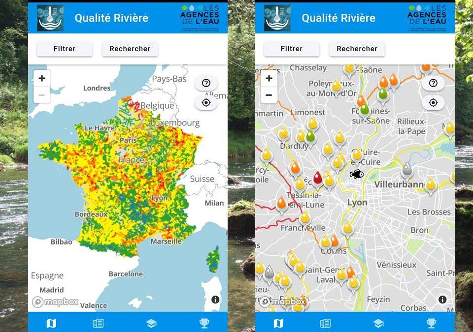 la qualité des rivières à portée de clics (actualité de l'agence de l'eau RMC)